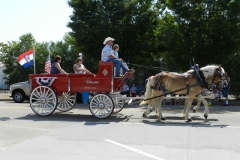 July 4 Parade Horse Wagon